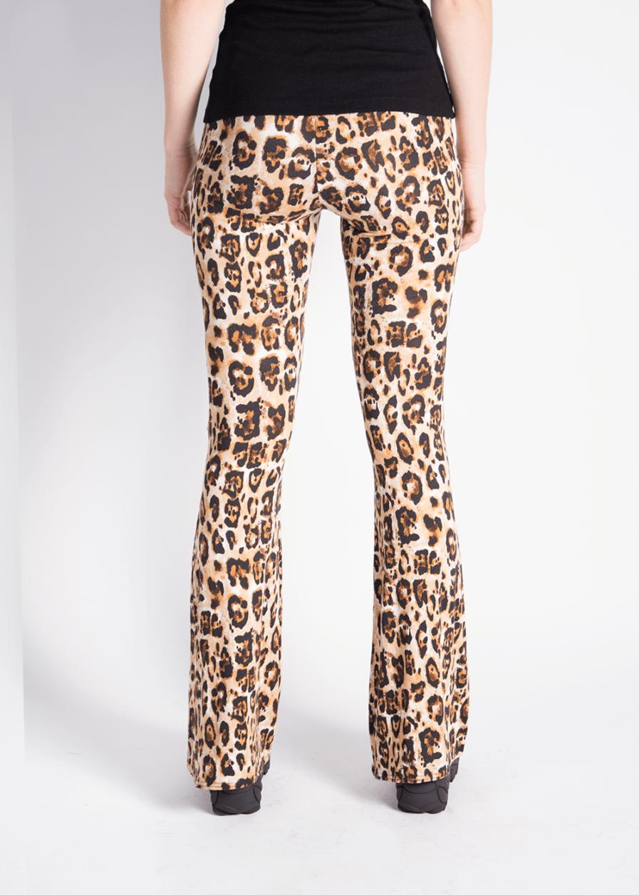 Soft flared pants - leopard print - achterkant
