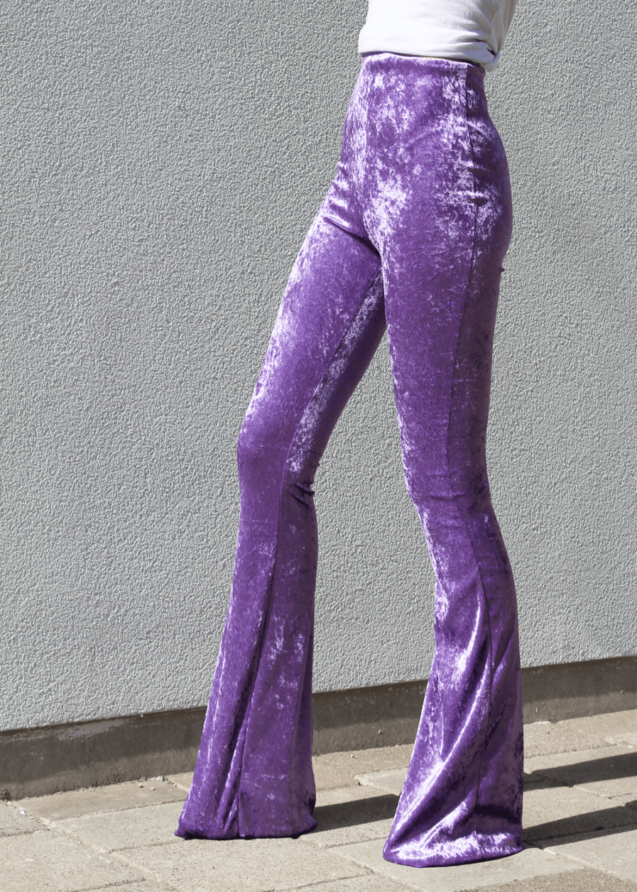 Velvet flared pants - lila - purple - FLRD