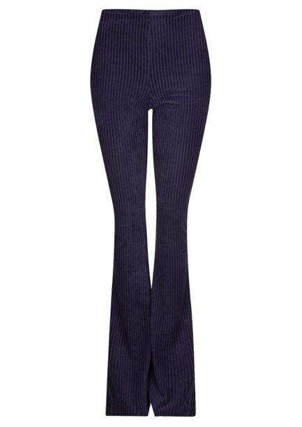 Ribbed flared pants - donker blauw - FLRD