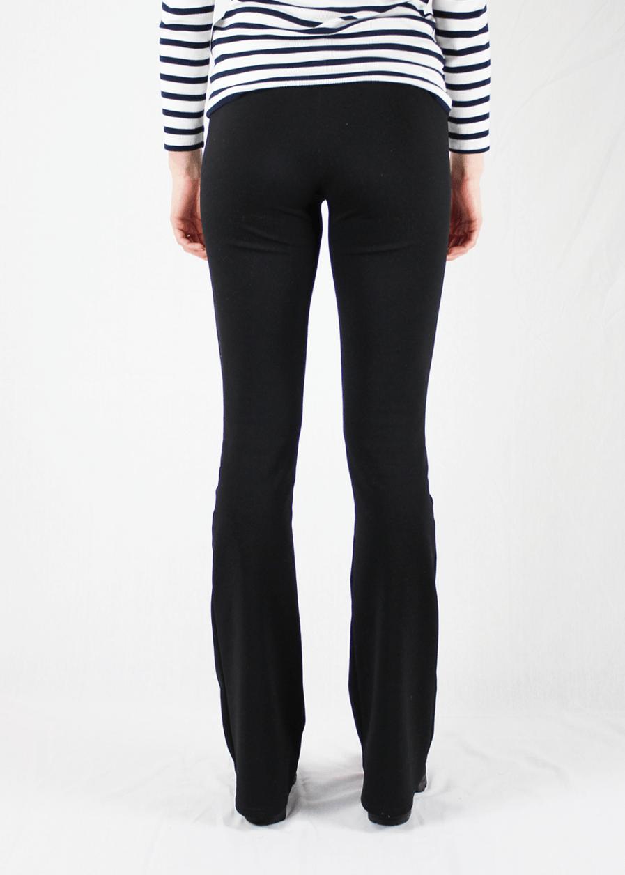 Flared pants zwart black – achterkant