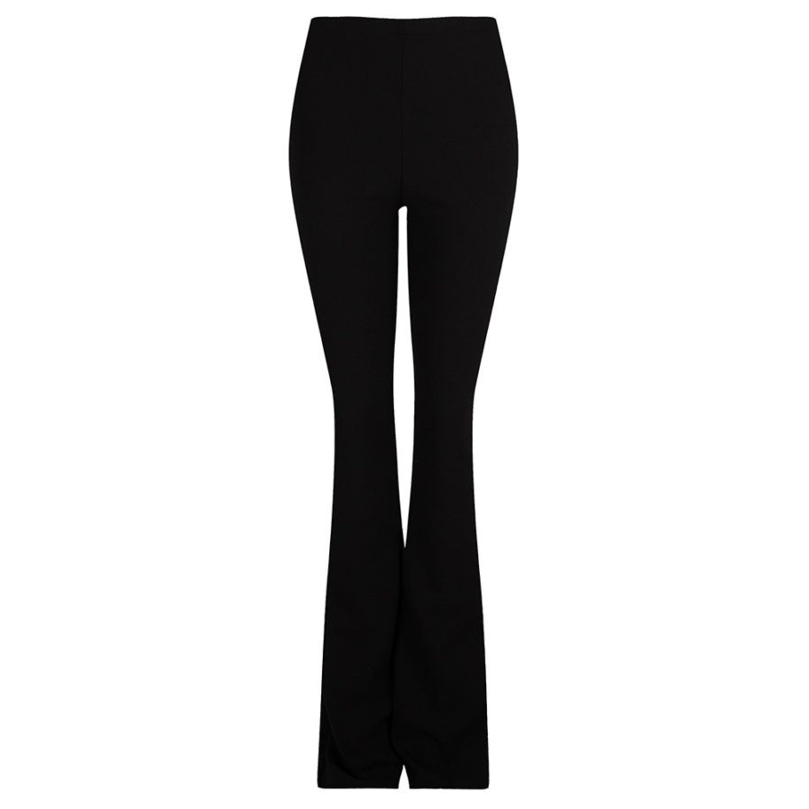 Flared pants zwart black - product foto