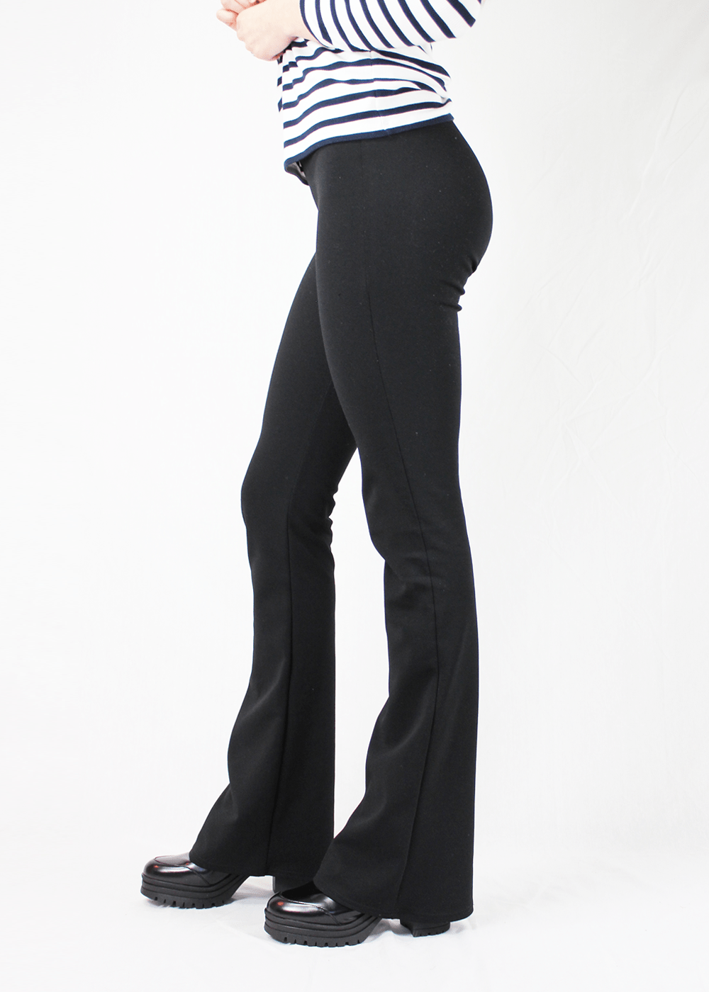 Flared pants zwartblack