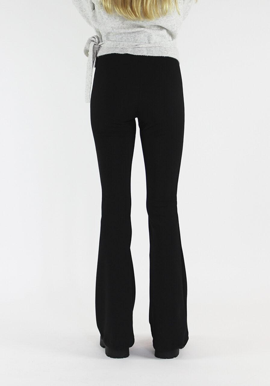 Flared pants zwart black - achterkant