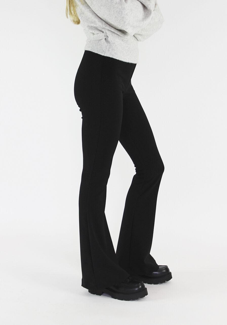 Flared pants zwart black - zijkant