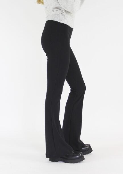 Flared pants zwart black - zijkant 2