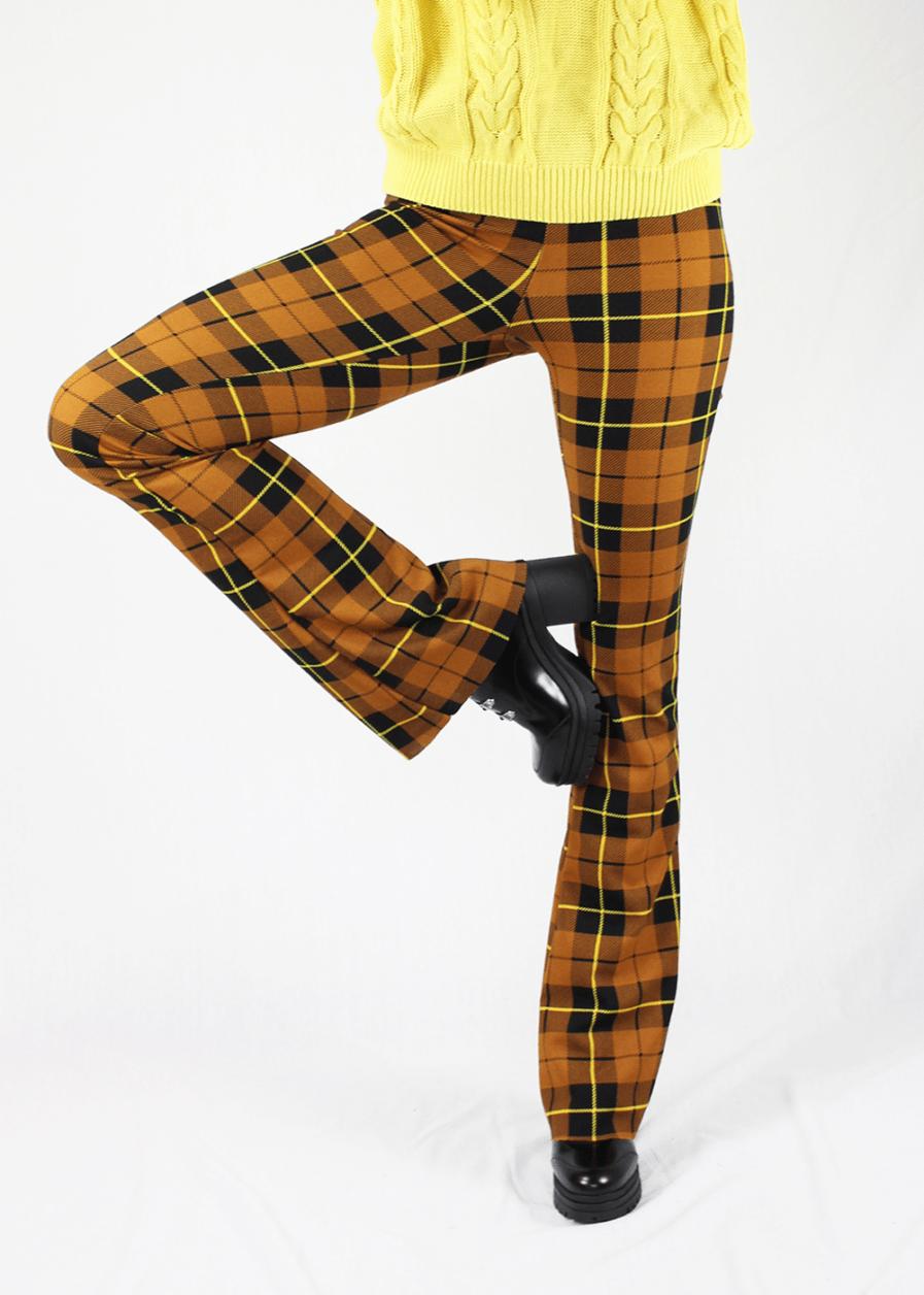 Flared pants geruit – voorkant