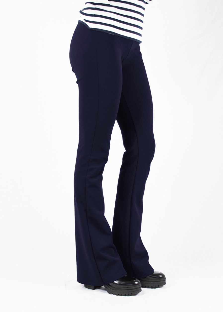 Flared pants blauw blue – zijkant
