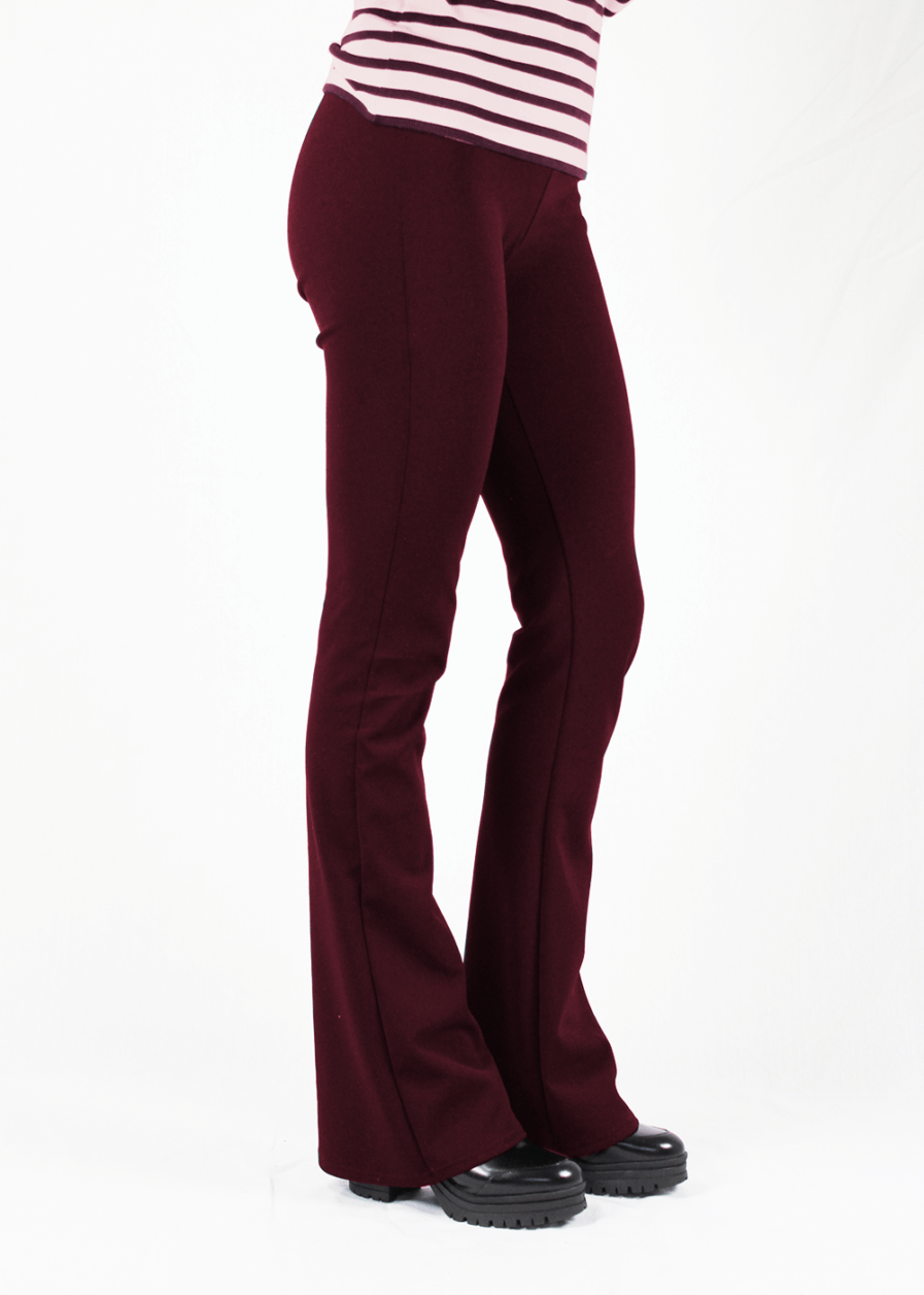 Flared pants rood red – zijkant
