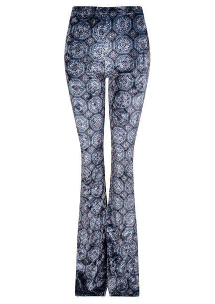 Velvet flared pants bohemian print