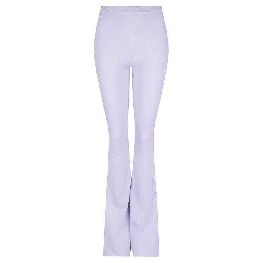 Flared pants lila - voorkant
