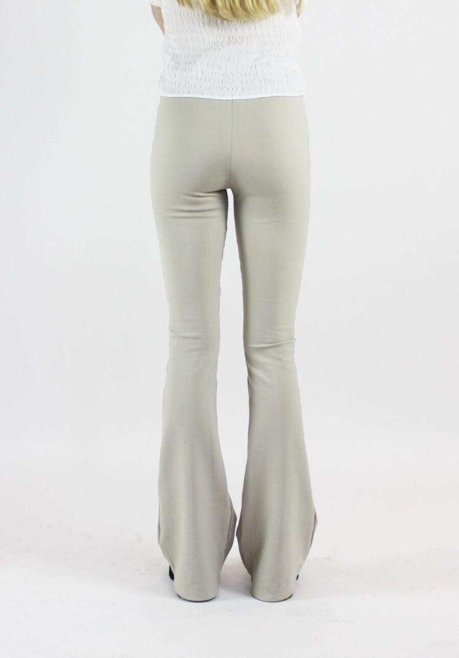 Flared pants beige - achterkant 2