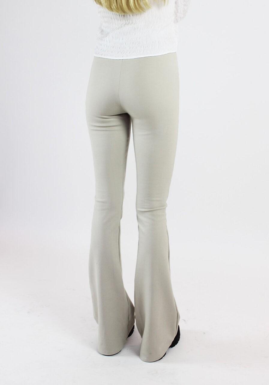 Flared pants beige - achterkant