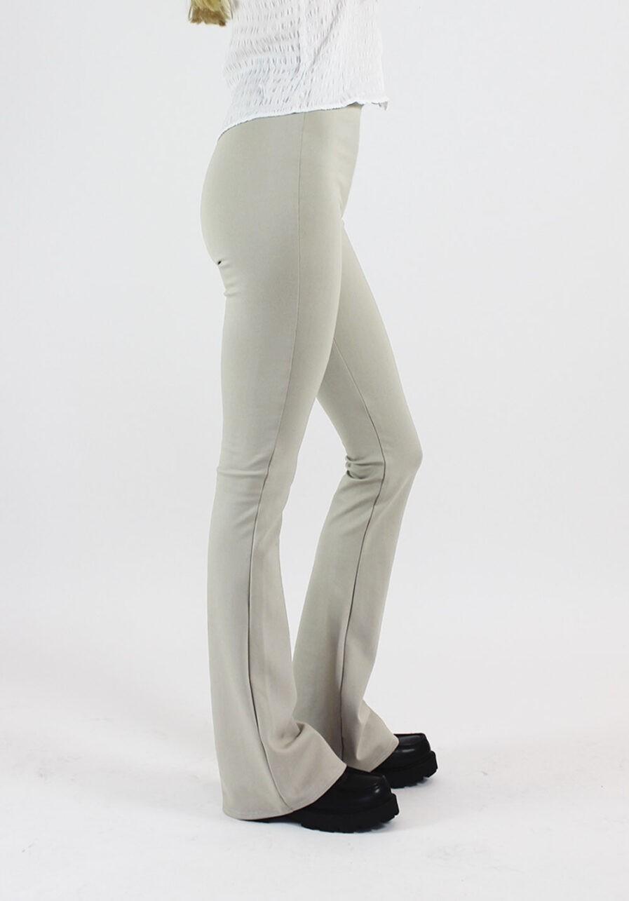 Flared pants beige - zijkant