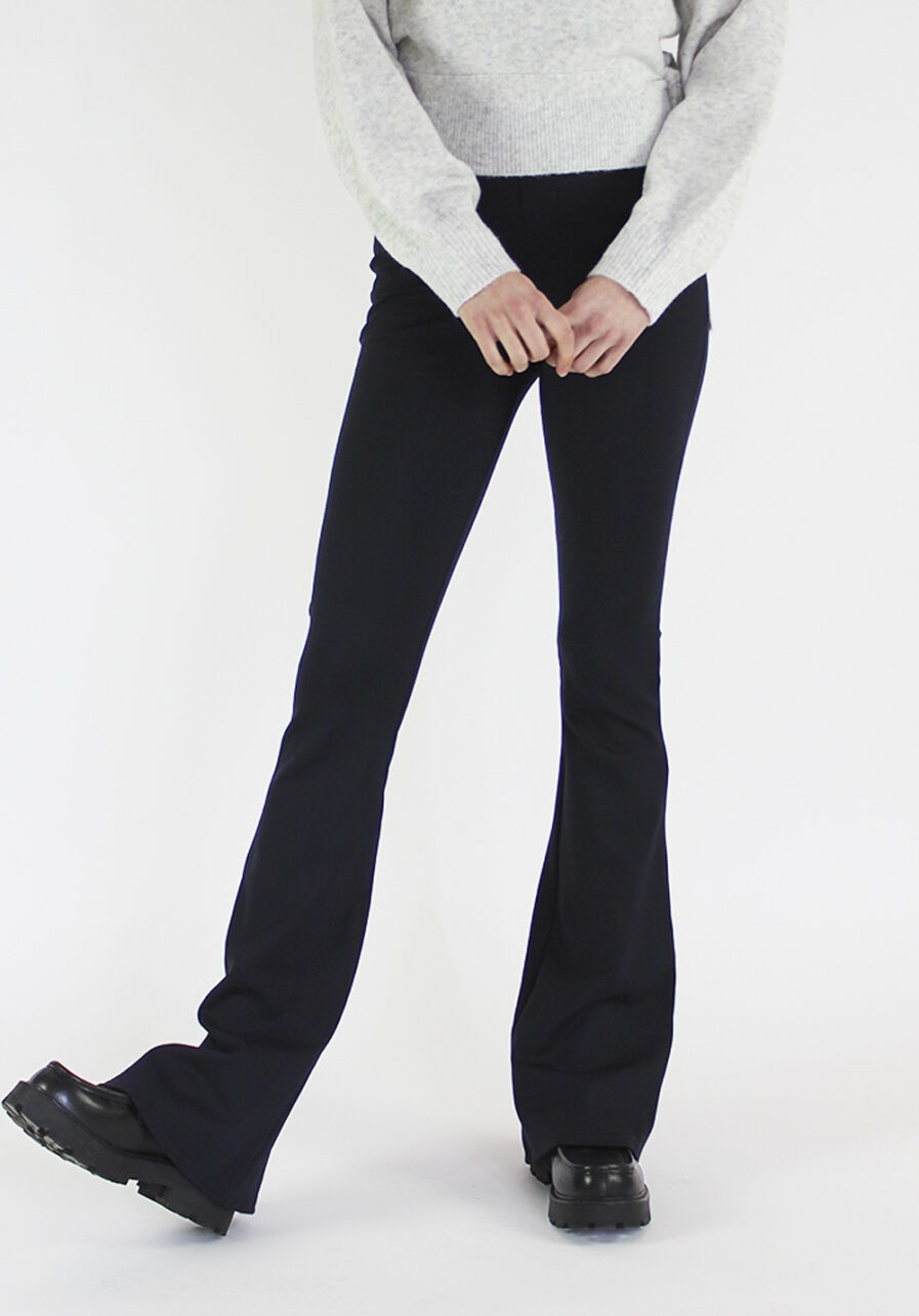 Flared pants donkerblauw - voorkant 2