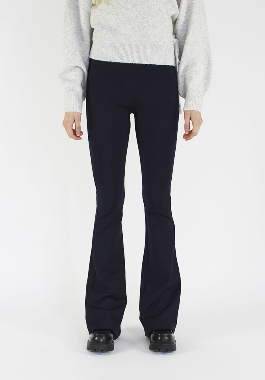 Flared pants donkerblauw - voorkant