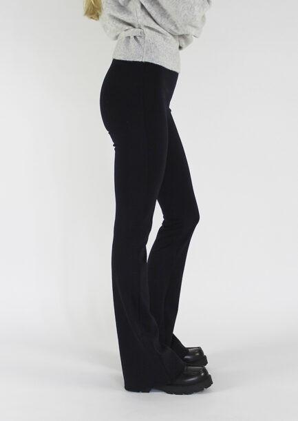 Flared pants donkerblauw - zijkant