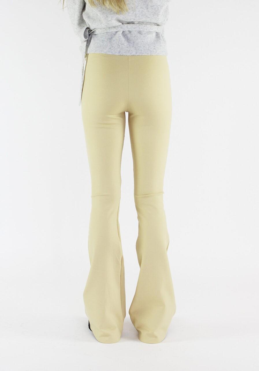 Flared pants lichtgeel - achterkant