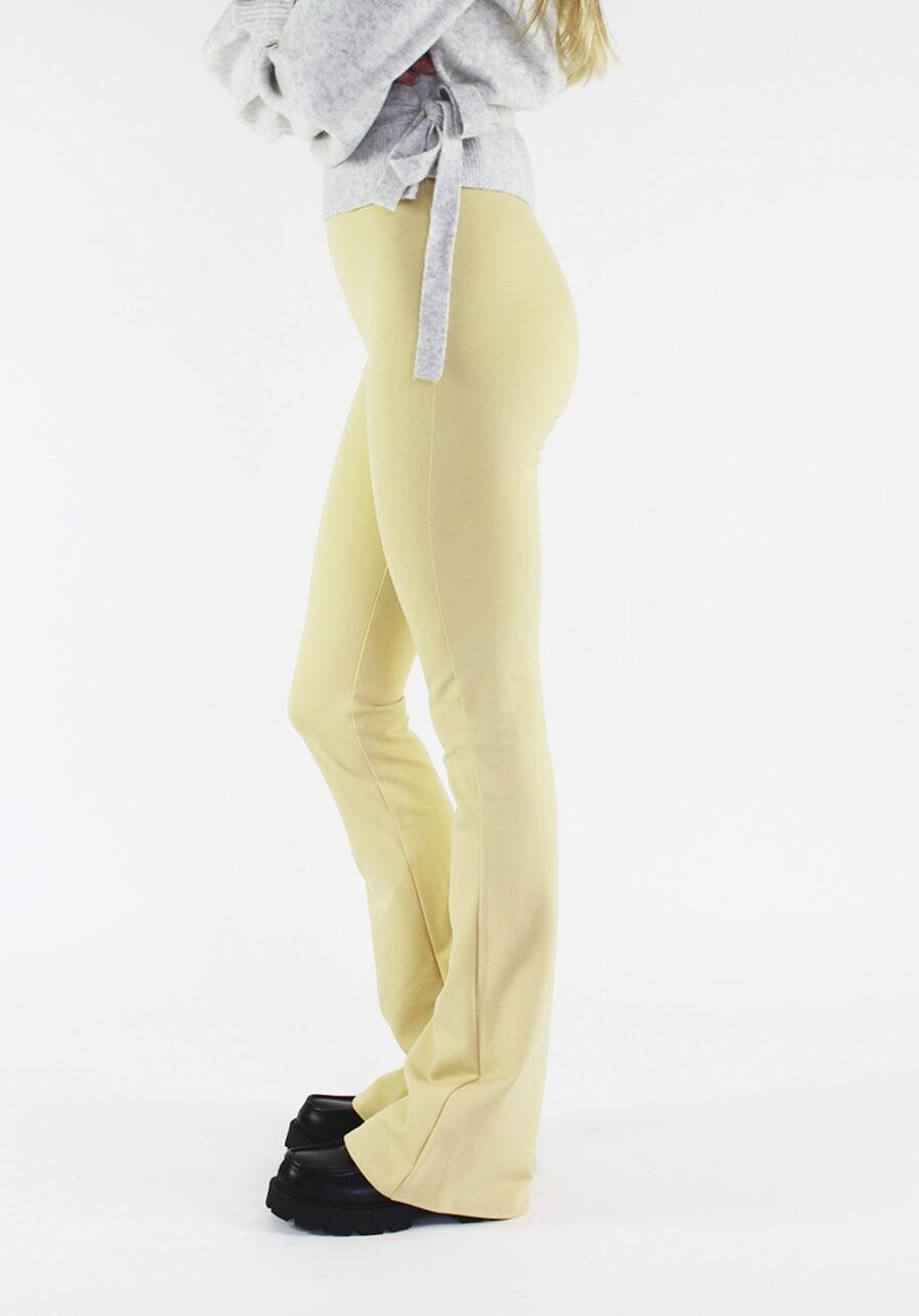 Flared pants lichtgeel - zijkant