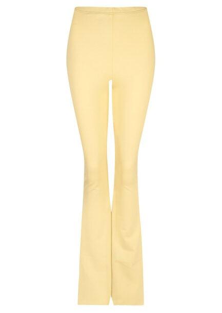 Flared pants lichtgeel - voorkant