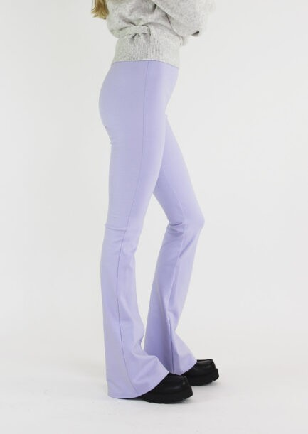 Flared pants lila - zijkant