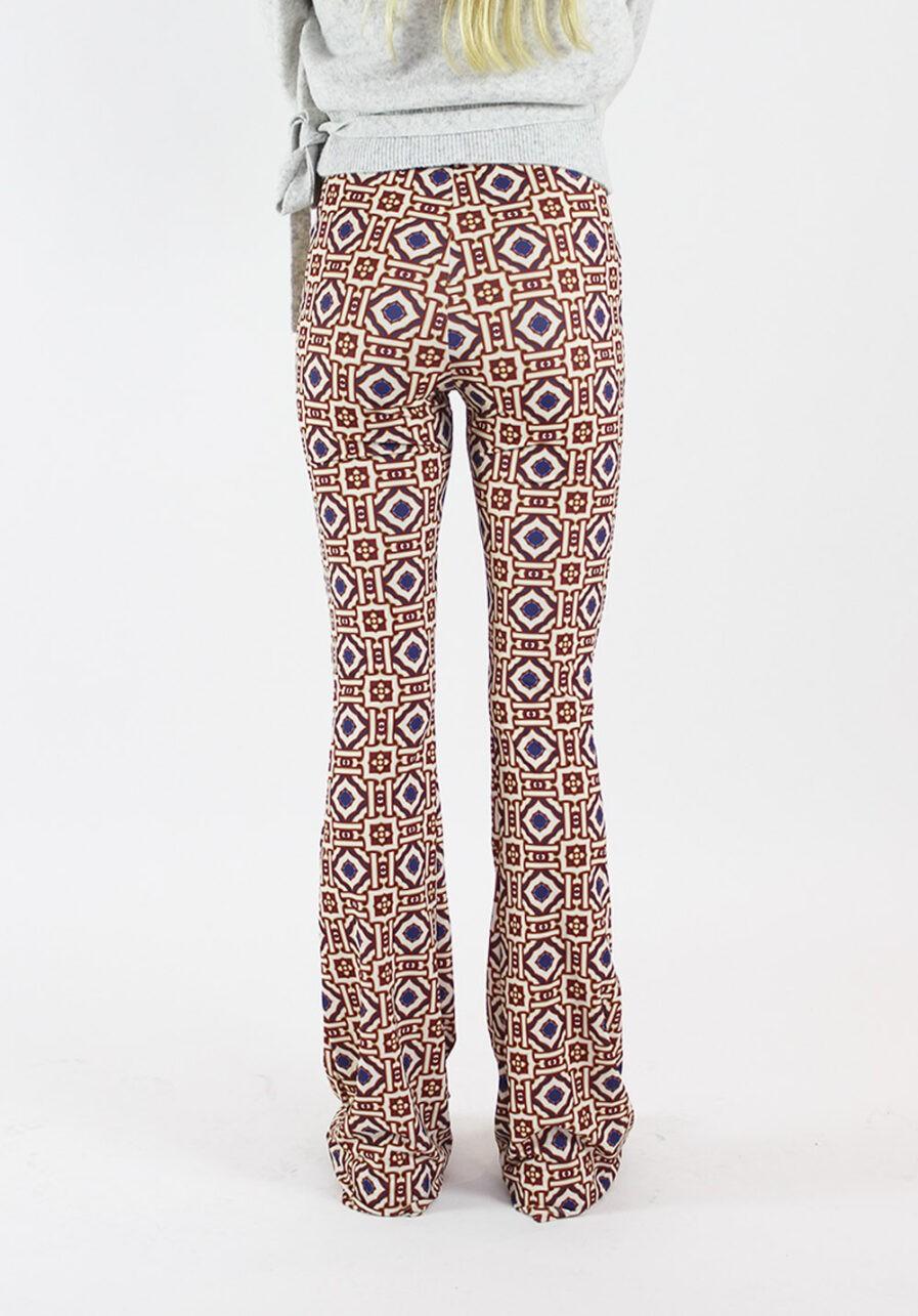 Printed flared pants - Afrikaanse print - achterkant